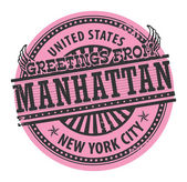 Manhattan, New York City stamp — Stock Vector