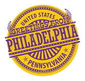 Philadelphia, Pennsylvania stamp — Stock Vector