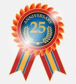 25 years anniversary label — Stock Vector