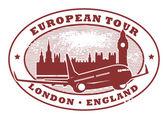 Signe de la tournée européenne, londres, angleterre — Vecteur