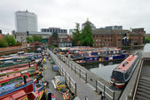 Colorful narrow boat, Birmingham — Stock Photo