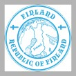 Finland stamp — Stock Vector