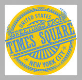 Greetings from Times Square, New York City sign — Stock Vector