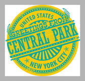 Greetings from Central Park, New York City sign — Stock Vector