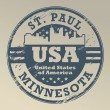 Stock Vector: Minnesota, St. Paul stamp