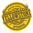 Greetings from Yellowstone, Wyoming sign — Stock Vector