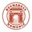 Bucharest, Romania stamp — Stock Vector