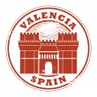 Valencia, Spain stamp — Stock Vector