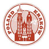 Krakow, Poland stamp — Stock Vector
