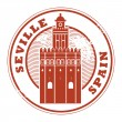 Seville, Spain stamp — Stock Vector