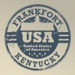 Kentucky, Frankfort stamp — Stok Vektör