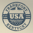 Kentucky, Frankfort stamp — Stockvectorbeeld