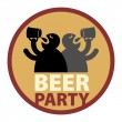 Beer Party label — Stock Vector