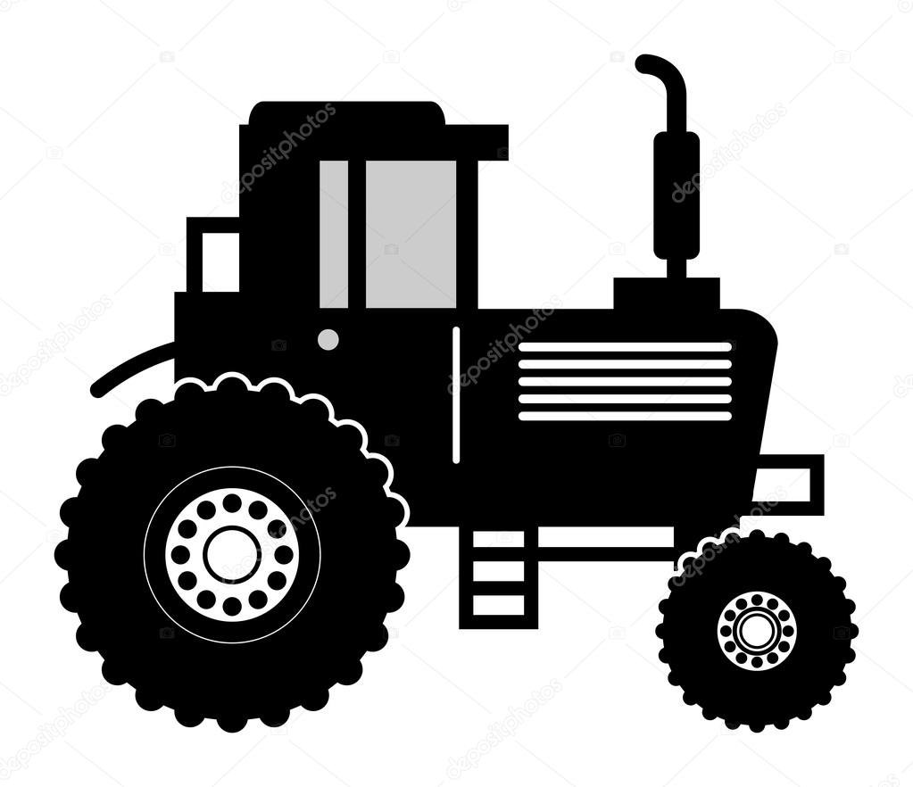 Farm Tractor Wheel Clip Art : Farm tractor — stock vector fla