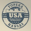 Stock Vector: Kansas, Topeka stamp