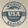 Stock Vector: Kansas, Wichita stamp