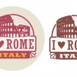 Love Rome, Italy stamp — Stock Vector
