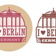 Love Berlin, Germany stamp — Stock Vector