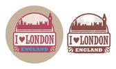 Love London, England stamp — Stock Vector