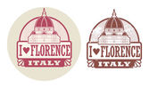 Love Florence, Italy stamp — Stock Vector