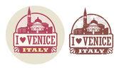 Love Venice, Italy stamp — Stock Vector