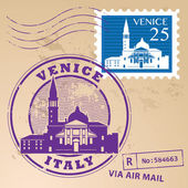 Venice, Italy stamp — Stock Vector