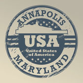 Maryland, Annapolis stamp — Stock Vector