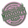 Greetings from Mississippi Delta stamp — Stock Vector