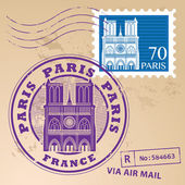 Paris, France stamp — Stock Vector