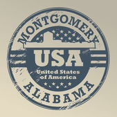 Alabama, Montgomery stamp — Stock Vector