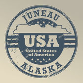 Alaska, Juneau stamp — Stock Vector