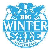 Big Winter Sale stamp — Stock Vector