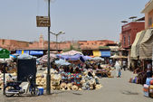 People in a market in Marrakesh, Morocco — Stock Photo