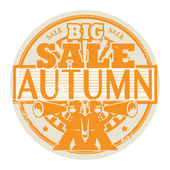 Big Autumn Sale stamp — Stock Vector