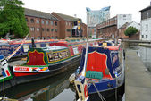 Colorful narrow boats — Stock Photo