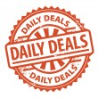 Daily Deals stamp — Stock Vector