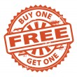 Buy One Get One Free stamp — Stock Vector