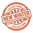 New Winter Collection stamp — Stock Vector