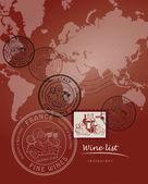 Carta de vinos — Vector de stock