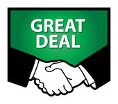 Great Deal sign — Stock Vector