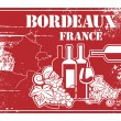 Bordeaux, France stamp — Stock Vector