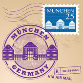 Munchen, tyskland stämpel set — Stockvektor