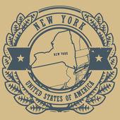New York, USA sign — Stock Vector