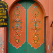 Old traditionally painted door — Stock Photo