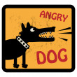 Angry Dog sign — Stock Vector