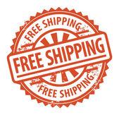 Timbro di spedizione gratuita — Vettoriale Stock