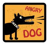 Angry Dog sign — Stock Vector
