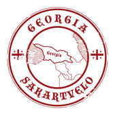 Georgia stamp — Stock Vector