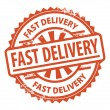 Stock Vector: Fast Delivery stamp