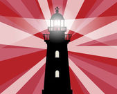 Lighthouse silhouette — Stock Vector